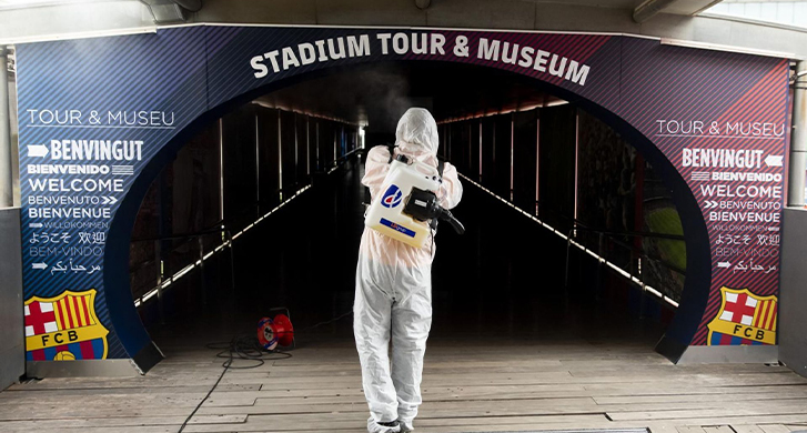 desinfección espacios deportivos